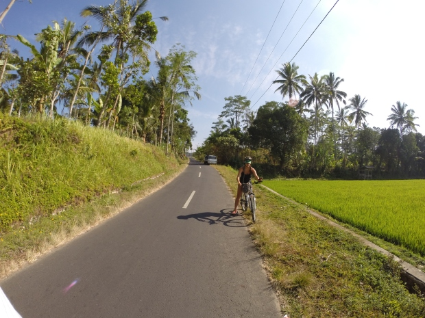 biking through bali